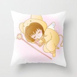 good night sakura Throw Pillow