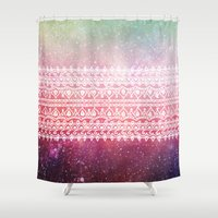 bohemian Shower Curtains featuring Bohemian Highway by Jenndalyn