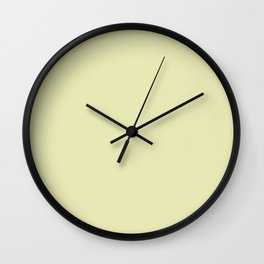 yellow soft Wall Clock
