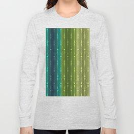 Jewel Tone Color Stripes Long Sleeve T-shirt