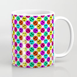 Mini Smiley Bikini Bright Neon Smiles on White Coffee Mug