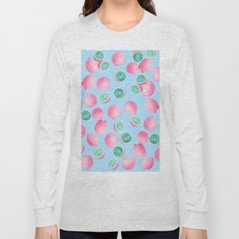 Funky Fun Lemons in Pink and Teal Long Sleeve T-shirt