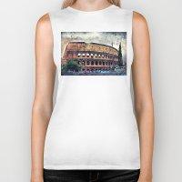 rome Biker Tanks featuring Colosseum Rome by jbjart