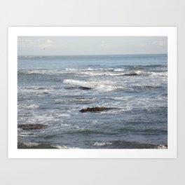 Limonese Waves Art Print