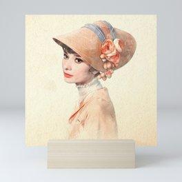 Audrey Hepburn - Eliza Doolittle - Watercolor Mini Art Print