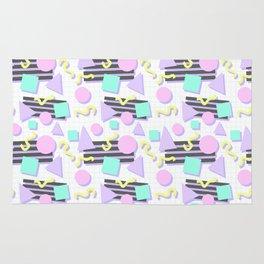 Pastel Retro 80s/90s Geometric Pattern Rug