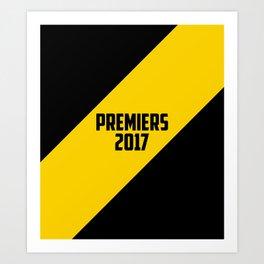 Premiers 2017 - Tigers Art Print