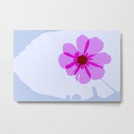 Floating Flower Metal Print