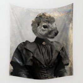 Miss Squirrel Wall Tapestry