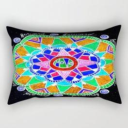 Move Forward Mandala Flipped Rectangular Pillow