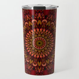 Bohemian Geometric Flower Mandala Travel Mug