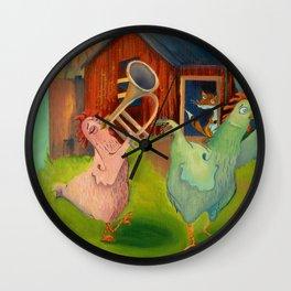 Chicken Parade Wall Clock