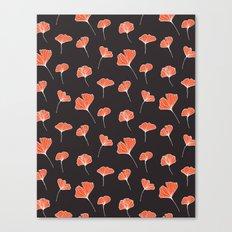 Ginkgo Biloba Leaves Pattern Dark #society6 #decor #buyart Canvas Print