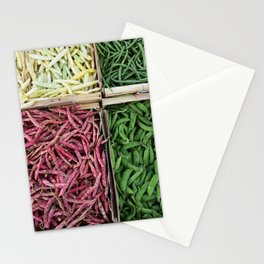 Beans of various colors Stationery Cards