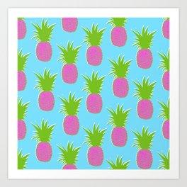 Pineapples (Summer Pink) Art Print