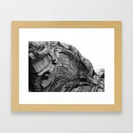 Pemaquid Rocks, Curved Framed Art Print