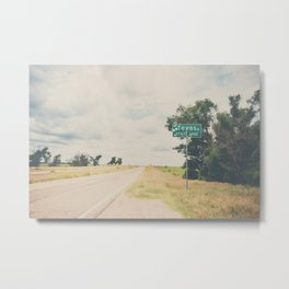 Texas state line ... Metal Print