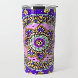 Tangled Mandala Art Travel Mug