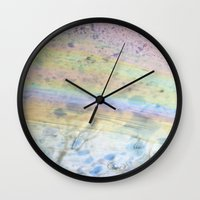 oil Wall Clocks featuring Oil by Miss Meow