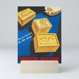 altes Plakat pour une bonne lessive du bon savon Mini Art Print