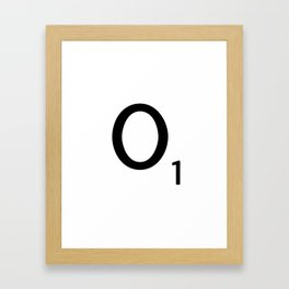 Letter O - Custom Scrabble Letter Tile Art - Scrabble O Initial Framed Art Print
