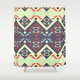 Tribal space Shower Curtain