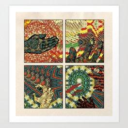 Hands Filled Art Print