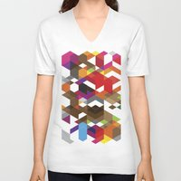 carnage V-neck T-shirts featuring Life like a Geometry by Sitchko Igor