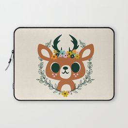 Deer with Flowers / Cute Animal Laptop Sleeve