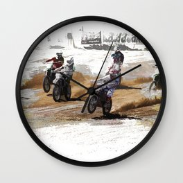 Starting Strong! - Motocross Racers Wall Clock