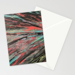 Blue and Teal Abstract Painting Stationery Cards