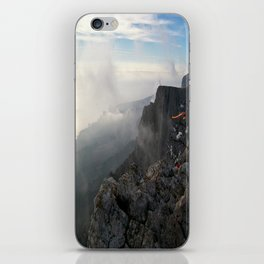 Freedom in the mountains iPhone Skin