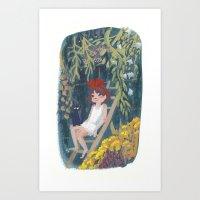 kiki Art Prints featuring Kiki by Verity