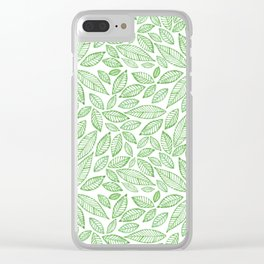 Hojas verdes Green leaves Clear iPhone Case