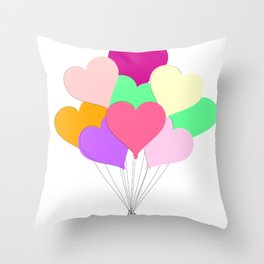 Balloon Bouquet for Valentines Day Throw Pillow