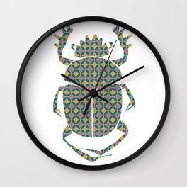 beetle with pattern Wall Clock
