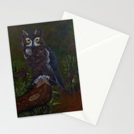 Dusk Owl Stationery Cards