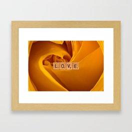 LOVE-Yellow Rose InspireMe Framed Art Print