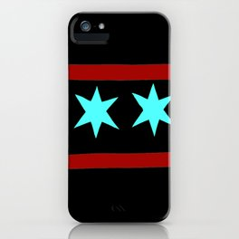 Chicago Flag (traditional) iPhone Case