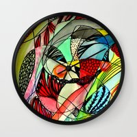 karma Wall Clocks featuring karma by sylvie demers