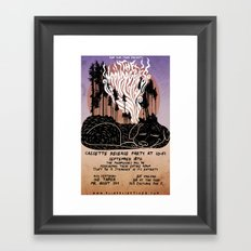 The Moondoggies Concert Poster Framed Art Print