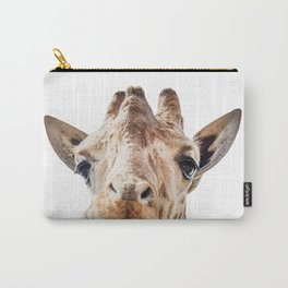 Funny Giraffe Portrait Art Print, Cute Animals, Safari Animal Nursery, Kids Room Poster Carry-All Pouch