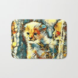 AnimalArt_Cheetah_20170601_by_JAMColorsSpecial Bath Mat
