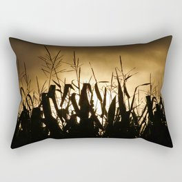Corn field silhouettes Rectangular Pillow