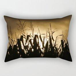 Corn field silhouettes Rectangular Pillow