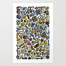 Artefacts Art Print