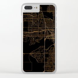 Black nd gold Des Moines map Clear iPhone Case