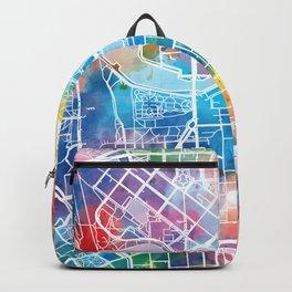 helsinki map watercolor Backpack