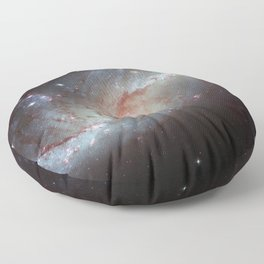 Barred spiral galaxy Floor Pillow