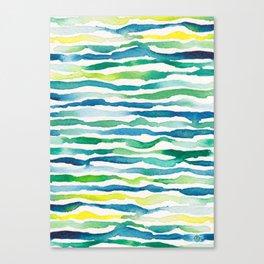 Ocean Zebra Chevron Canvas Print